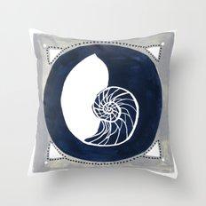 Seaside Specimen No.1 nautilus Throw Pillow