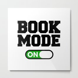 Book Mode Metal Print