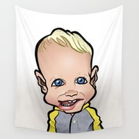 toddler Wall Tapestries featuring Future Footballer by BinaryGod.com