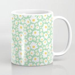 Field of Daisies in Mod Mint Coffee Mug