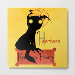 Heartless Noir Metal Print
