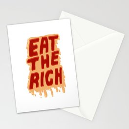 Eat the Rich Stationery Cards