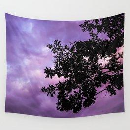 Tree in Purple Wall Tapestry