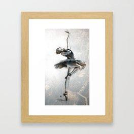 Ballet dancer out in the big city Framed Art Print