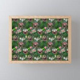Boho Sloths Framed Mini Art Print