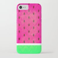 watermelon iPhone & iPod Cases featuring Watermelon by M Studio