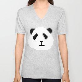 Pixel Panda Unisex V-Neck