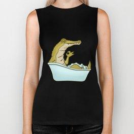 Bathtub crocodile Biker Tank