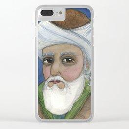 """It Is Rumi It Is"", Rumi Literary Portrait Clear iPhone Case"