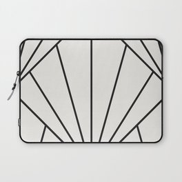 Diamond Series Sun Burst Charcoal on White Laptop Sleeve