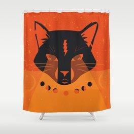 Black Cat Mystic Oracle Shower Curtain
