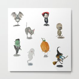 The Spooky Bunch Metal Print