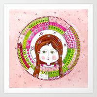 virgo Art Prints featuring Virgo by Sandra Nascimento