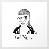 grimes Art Prints featuring Grimes by ☿ cactei ☿