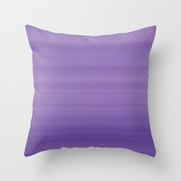 Ultra Violet Gradient Stripes Trendy Color of the year 2018 Throw Pillow