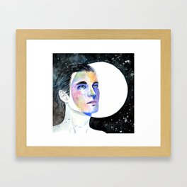 Man on the Moon, Where are You? Framed Art Print