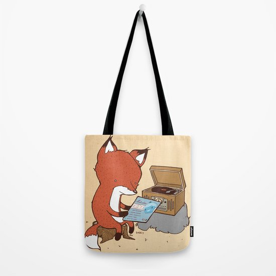Record Player Tote Bag
