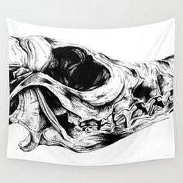 Mutated Fox Skull Wall Tapestry