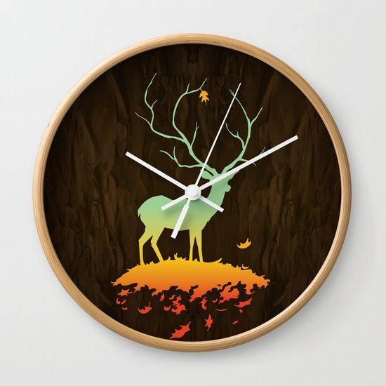 Fawn and Flora Wall Clock