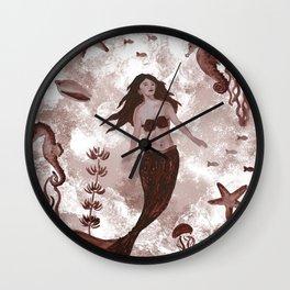 Under the Sea (Maroon) Part 1 Wall Clock