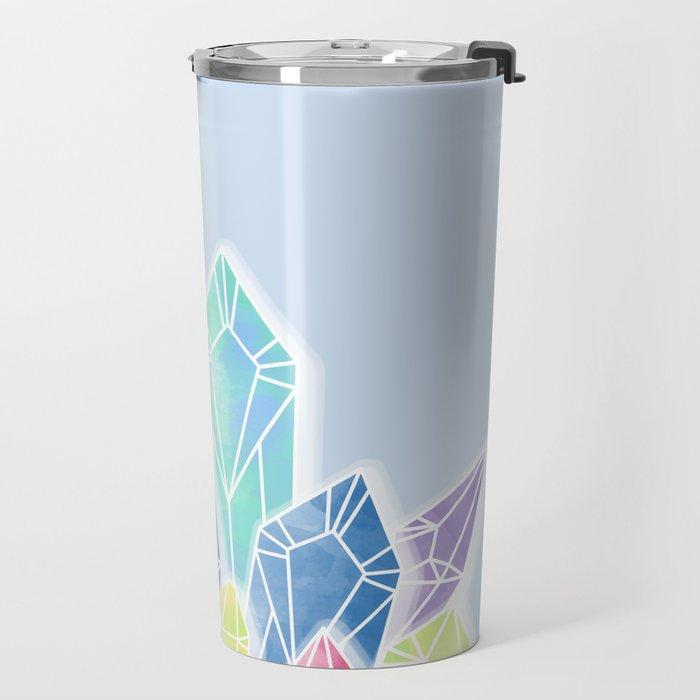 Crystals Blue Travel Mug