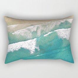 Turquoise Sea Beach Rectangular Pillow