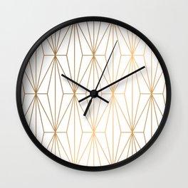 Gold Geometric Pattern Illustration Wall Clock