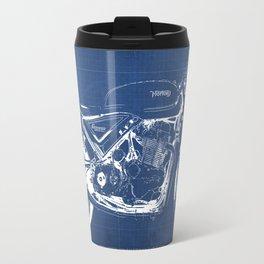 Blueprint, Norton Commando Cafe Racer, original art,bike poster Travel Mug