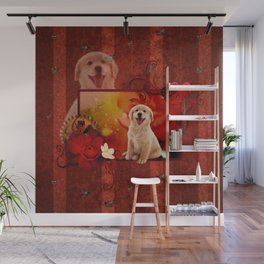 Sweet golden retriever Wall Mural