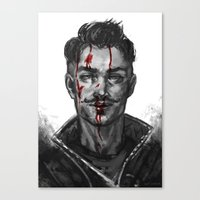 dragon age Canvas Prints featuring Dragon Age - Dorian by eristhenat