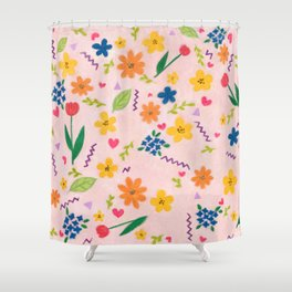 pale pink flower Shower Curtain