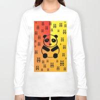 pandas Long Sleeve T-shirts featuring Pandas by Gaspar Avila