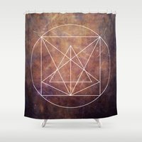 grunge Shower Curtains featuring grunge by Kozza