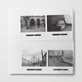 Black and White Memories Metal Print