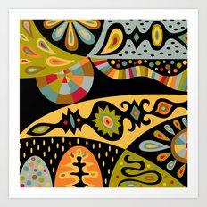 bohemian black Art Print