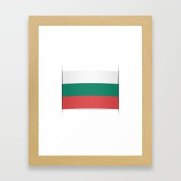 Flag of Bulgaria. The slit in the paper with shadows. Framed Art Print