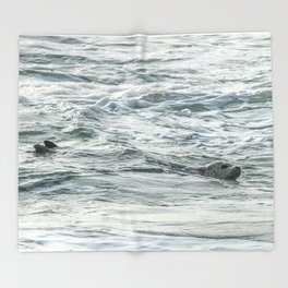 Harbor Seal, No. 2 Throw Blanket