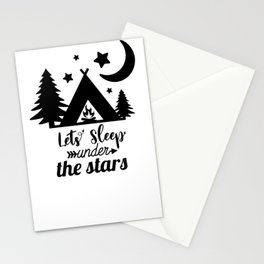 Adventure Outdoor Camping and hiking Design Nature Lovers Stationery Cards