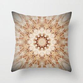 Decorative Marble Mandala Abstract Throw Pillow