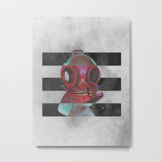 Old school helmet Metal Print