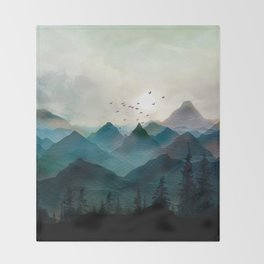 Mountain Sunrise II Throw Blanket