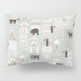 urban jungle silver mint Pillow Sham