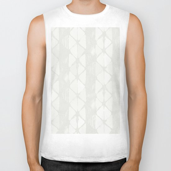Simply Braided Chevron Lunar Gray Biker Tank