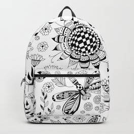 Dragonflies and flowers Backpack