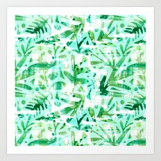 Abstract Jungle Art Print