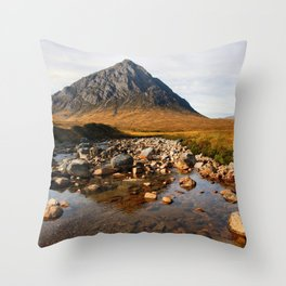 Buchaille Etive Mor Mountan Glencoe Scotland Throw Pillow