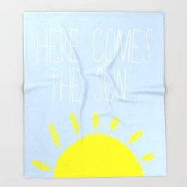 Here Comes The Sun Throw Blanket