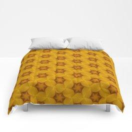 Yellow Flower Chain Pattern Comforters