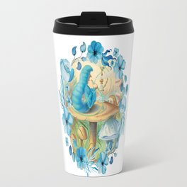 Alice and the Caterpillar - Alice in Wonderland Travel Mug