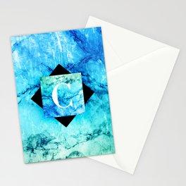C - Monogram Vivids Stationery Cards